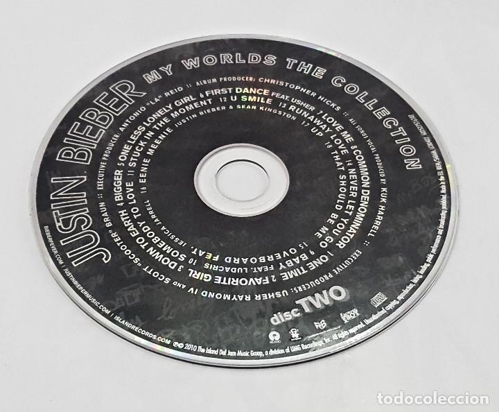 CDs de Música: Doble CD de JUSTIN BIEBER.MY WORLDS THE COLLECTION 2010. - Foto 4 - 158458414