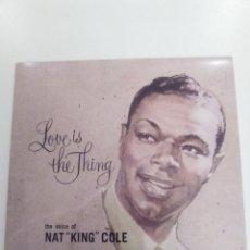 CDs de Música: NAT KING COLE LOVE IS THE THING ( 2017 DOL ) MINI REPLICA EXCELENTE ESTADO. Lote 158477822