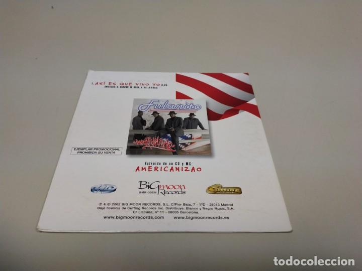 CDs de Música: 419- FULANITO ASI ES QUE VIVO YO ESPAÑA 1 TRACKS PROMOCIONAL CD - Foto 2 - 158582270
