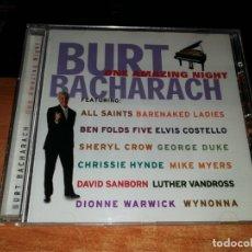 CDs de Música: BURT BACHARACH ONE AMAZING NIGHT CD ALBUM 1998 DUOS ELVIS COSTELLO DIONNE WARWICK SHERYL CROW. Lote 158944298