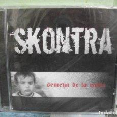 CDs de Música: SKONTRA SEMEYA DE LA RABIA PUNK FOLK ASTURIAS CD ALBUM PRECINTADO PEPETO. Lote 249408260