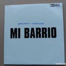 CDs de Música: SUPER RARE 1 TRACK PROMO CD MARIANO MARIANO - MI BARRIO - SPAIN 2004 VG/VG+. Lote 159108142