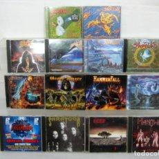 CDs de Música: INTERESANTE LOTE 14 CDS MUSICA METAL - HAMMER FALL MANOWAR SKYCLAD AVALON KREATOR ETC VER FOTOS. Lote 159125870