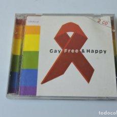 CDs de Música: GAY FREE & HAPPY 2X CD. Lote 159248634