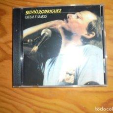 CDs de Música: SILVIO RODRIGUEZ. CAUSAS Y AZARES. OJALÁ, 1986. EDT ARGENTINA. CD. IMPECABLE (#). Lote 159357154