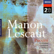 CDs de Música: DOBLE CD ALBUM: MANON LESCAUT - DE PUCCINI - TE KANAWA, JOSÉ CARRERAS, CHAILLY - DECCA RECORDS 1999. Lote 159483118