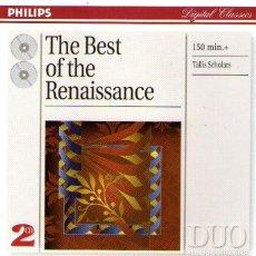 CDs de Música: DOBLE CD ALBUM: THE BEST OF THE RENAISSANCE - THE TALLIS SCHOLARS - 26 TRACKS - PHILIPS - AÑO 1999. Lote 159484106