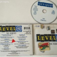 CDs de Música: CD LEVEL 42 THE REMIXES . Lote 159491158