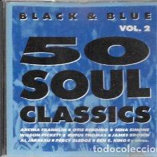 CDs de Música: BLACK & BLUE VOL.2. 50 SOUL CLASSICS. 1992 DIVUCSA. Lote 159530062