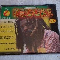 CDs de Música: DENNIS BROWN BOB MARLEY JIMMY CLIFF THE WORLD OF REGGAE 2 X CD. Lote 159591214
