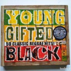 CDs de Música: VARIOS-YOUNG GIFTED AND BLACK (50 CLASSIC REGGAE HITS!) (2 X CD.TROJAN.2002) UPSETTERS,BOB MARLEY.... Lote 159656266
