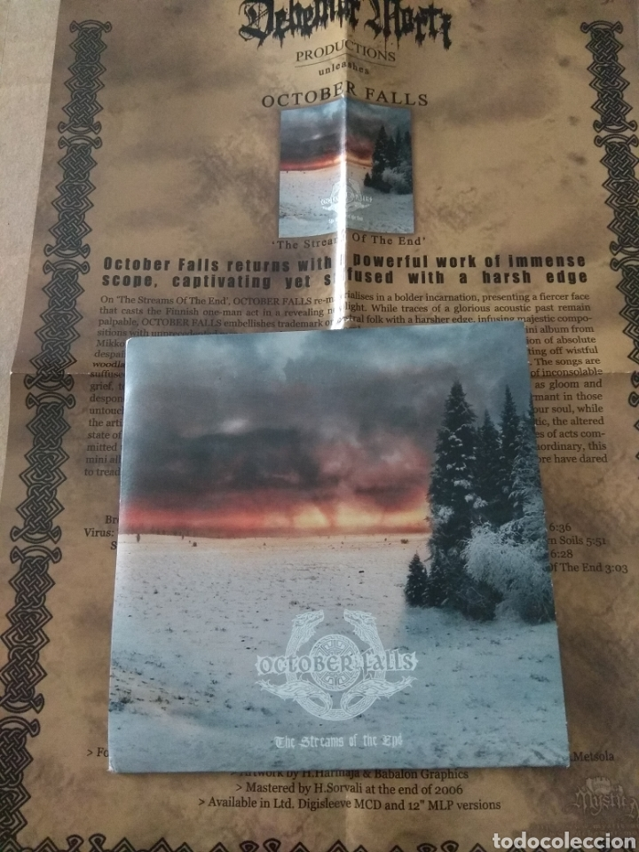 OCTOBER FALLS THE STREAMS OF THE END CD PROMO (Música - CD's Heavy Metal)