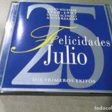 CDs de Música: JULIO IGLESIAS (CD) FELICIDADES JULIO AÑO 1992 – DOBLE CD. Lote 212799593