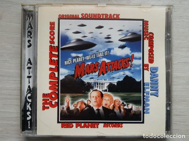 MARS ATTACKS - DANNY ELFMAN - CD - B.S.O. RARO (Música - CD's Bandas Sonoras)