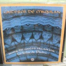 CDs de Música: GAITEROS DE MAQUILÁN BANDA DE GAITAS VILLAVICIOSA LA ISLA DE PIEDRA CD ALBUM ASTURIAS PEPETO. Lote 159899498