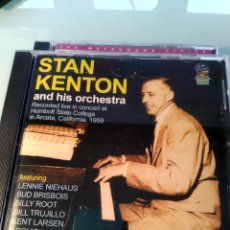 CDs de Música: STAN KENTON AND HIS ORCHESTRA ‎– RECORDED LIVE IN CONCERT AT HUMBOLT STATE COLLEGE - 1959. Lote 159942262