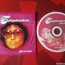 CDs de Música: TELEPHUNKEN - CD SINGLE PROMOCIONAL QUE SE SEPA (ELECTRONIC ROCK, LATIN, BREAKS, BREAKBEAT) 2001. Lote 160016674
