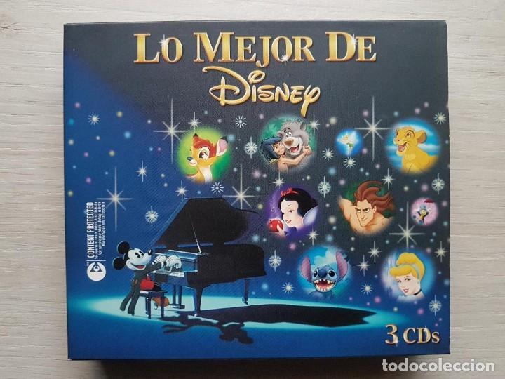 LO MEJOR DE DISNEY - 3 CDS CON LAS MEJORES BANDAS SONORAS DE LAS PELÍCULAS DE DISNEY - RARO (Música - CD's Bandas Sonoras)
