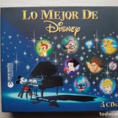 CDs de Música: LO MEJOR DE DISNEY - 3 CDS CON LAS MEJORES BANDAS SONORAS DE LAS PELÍCULAS DE DISNEY - RARO. Lote 160019914