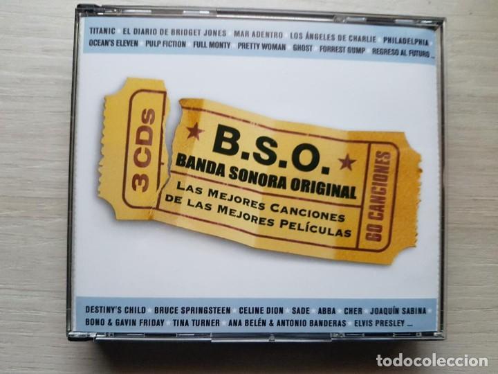 B.S.O. BANDA SONORA ORIGINAL - 3 CDS CON LAS 60 MEJORES CANCIONES DE LAS MEJORES PELÍCULAS - RARO (Música - CD's Bandas Sonoras)