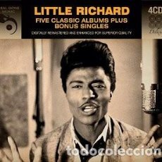 CDs de Música: FIVE CLASSIC ALBUMS PLUS BONUS SINGLES (4 CDS) MÚSICA INTREPRETADA POR LITTLE RICHARD . Lote 160020930