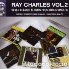 Music CDs - RAY CHARLES VOL. 2: SEVEN CLASSIC ALBUMS PLUS BONUS SINGLES (4 CDs) - 160023166