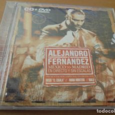 CDs de Música: RAR CD & DVD. ALEJANDRO FERNÁNDEZ. MÉXICO MADRID. EN DIRECTO Y SIN ESCALAS. Lote 160074146