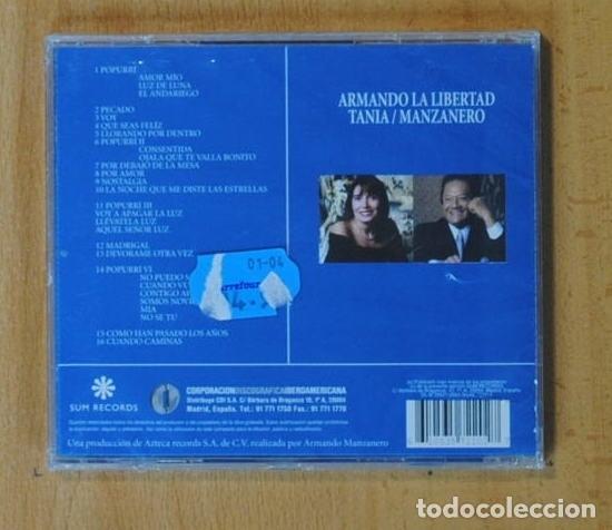 CDs de Música: ARMANDO MANZANERO / TANIA LIBERTAD - ARMANDO LA LIBERTAD - CD - Foto 2 - 160080146
