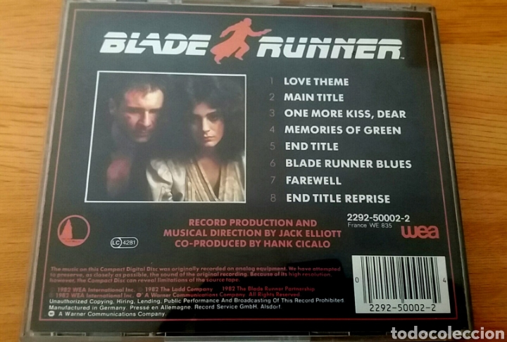CDs de Música: Blade Runner. The New American Orchestra. - Foto 2 - 160154269