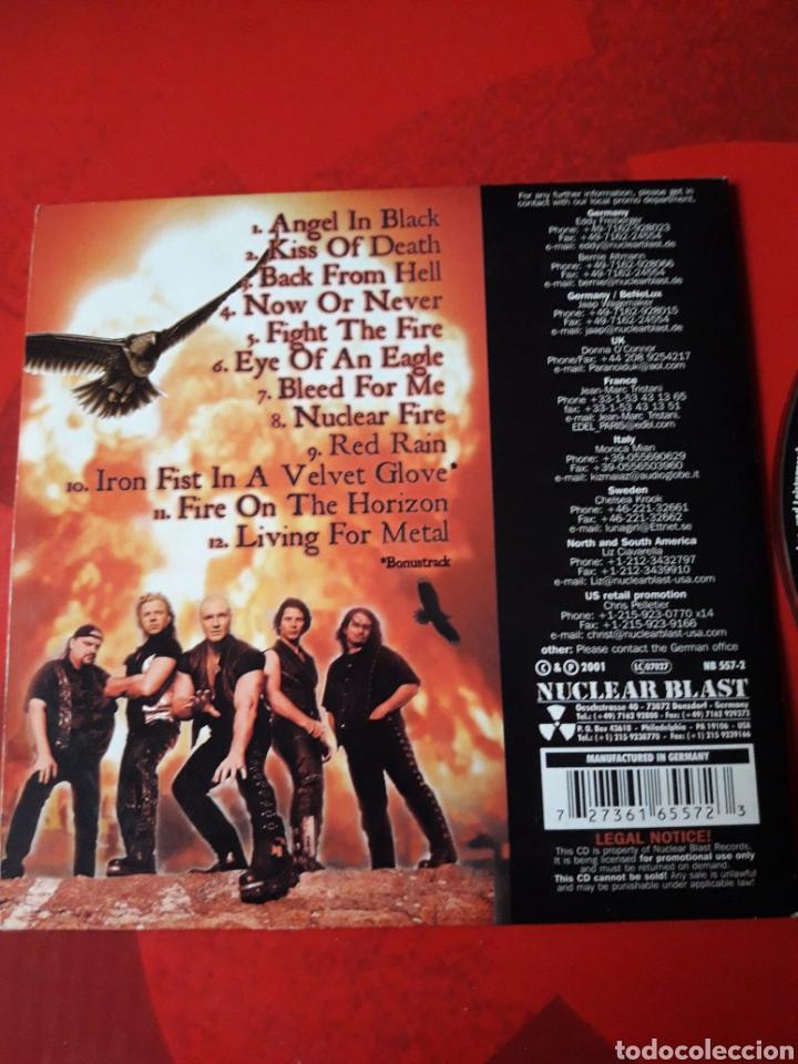 CDs de Música: Primal Fear - CD promocional Nuclear Fire (heavy metal, power metal) 2001 - Foto 4 - 160164389
