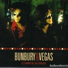 CDs de Música: BUNBURY & VEGAS. EL TIEMPO DE LAS CEREZAS. DIGIPAK, DOBLE CD, ESPAÑA 2006.. Lote 160165966