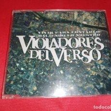 CDs de Música: VIOLADORES DEL VERSO, VIVIR PARA CONTARLO MAXI 6 TEMAS BUEN. Lote 160196654