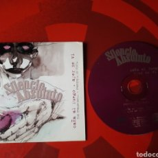 CDs de Música: SILENCIO ABSOLUTO - CD SINGLE PROMOCIONAL CAÑA AL FUEGO + AYER TE VI (ROCK, 2002). Lote 160273162
