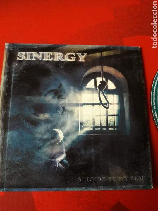 CDs de Música: Sinergy - CD promocional Suicide By My Side (Heavy Power Metal 2001) - Foto 2 - 160297972