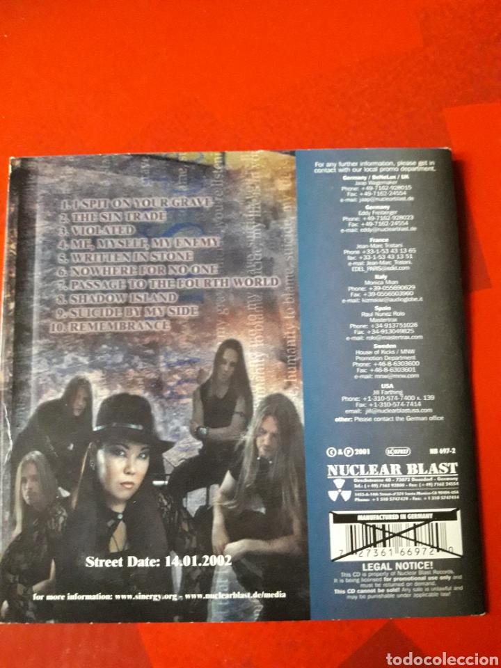 CDs de Música: Sinergy - CD promocional Suicide By My Side (Heavy Power Metal 2001) - Foto 4 - 160297972