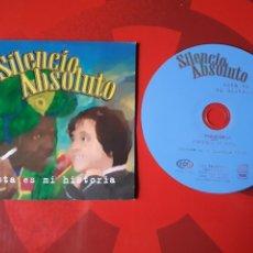 CDs de Música: SILENCIO ABSOLUTO - CD SINGLE PROMOCIONAL ESTA ES MI HISTORIA (ROCK 2002). Lote 160301986