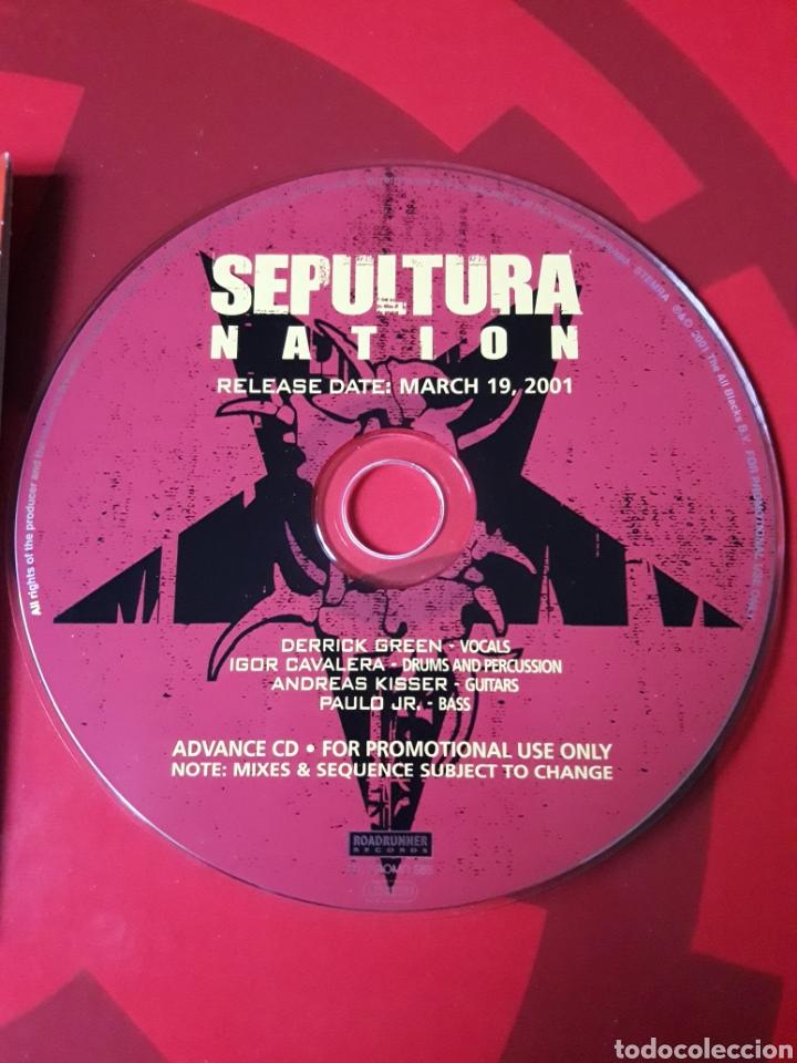 CDs de Música: Sepultura - CD promocional Nation (Heavy metal Hardcore) - Foto 3 - 160303004