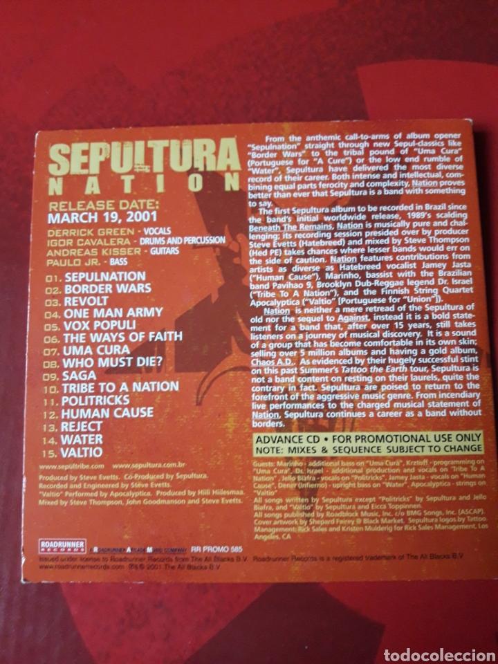 CDs de Música: Sepultura - CD promocional Nation (Heavy metal Hardcore) - Foto 4 - 160303004