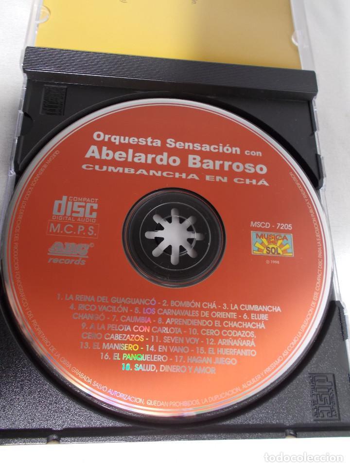 CDs de Música: ORQUESTA SENSACIÓN CON ABELARDO BARROSO - CUMBANCHA EN CHÁ - Foto 6 - 160315078