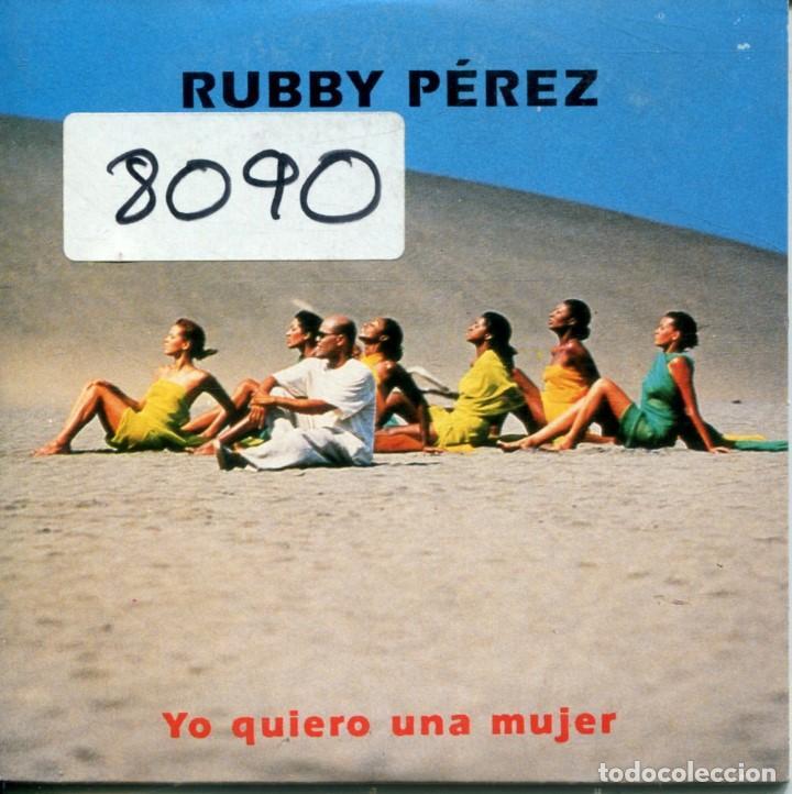 RUBBY PEREZ / YO QUIERO UNA MUJER / Y NOS DIERON LAS DIEZ (CD SINGLE CARTON PROMO 1997) (Música - CD's Latina)