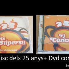 CDs de Música: TOTS SOM SÚPERS !! ELS DISC DEL 25 ANYS + DVD DEL CONCERT / PRECINTADO A ESTRENAR. Lote 160351350