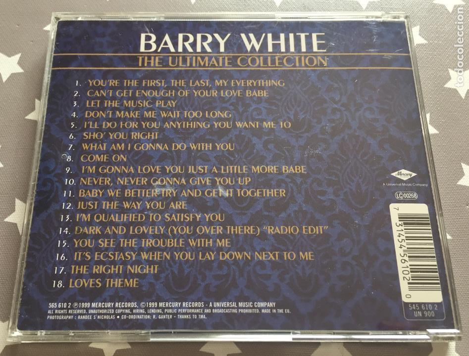 CDs de Música: BARRY WHITE, The Ultimate Collection - Foto 2 - 160351730