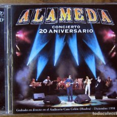CDs de Música: ALAMEDA - CONCIERTO 20 ANIVERSARIO - 1999 - TRIANA, GUALBERTO, PASTORI, EL BARRIO - DOBLE CD. Lote 160480346