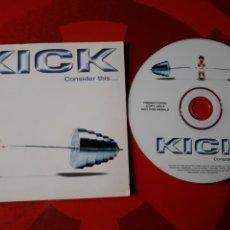 CDs de Música: KICK - CD ALBUM PROMOCIONAL CONSIDER THIS... (HARD ROCK 1999 ). Lote 160486501
