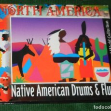 CDs de Música: NORTH AMERICA. NATIVE AMERICANS DRUMS & FLUTE - 2000. Lote 160493430