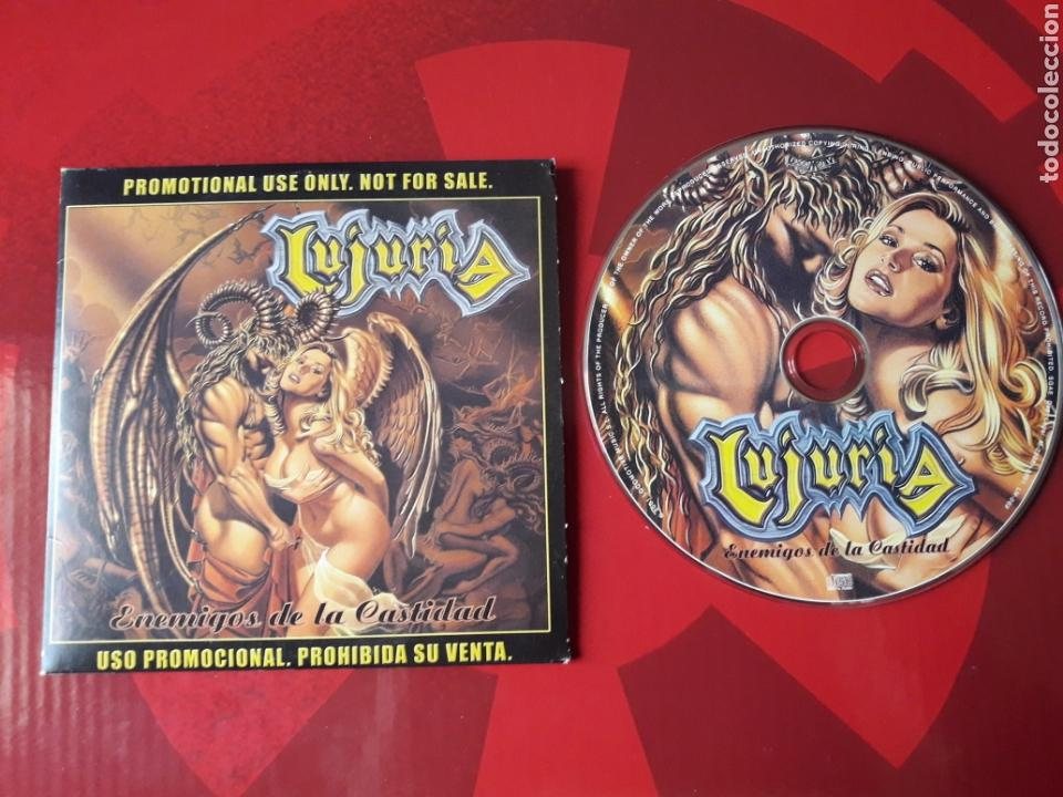 LUJURIA - CD ALBUM PROMOCIONAL ENEMIGOS DE LA CASTIDAD (HEAVY METAL 2001 ) (Música - CD's Heavy Metal)
