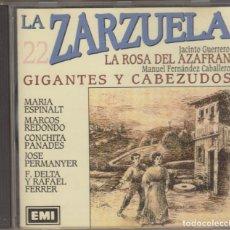 CDs de Música: LA ROSA DEL AZAFRÁN GIGANTES Y CABEZUDOS CD LA ZARZUELA 22 1991 EMI. Lote 160539886