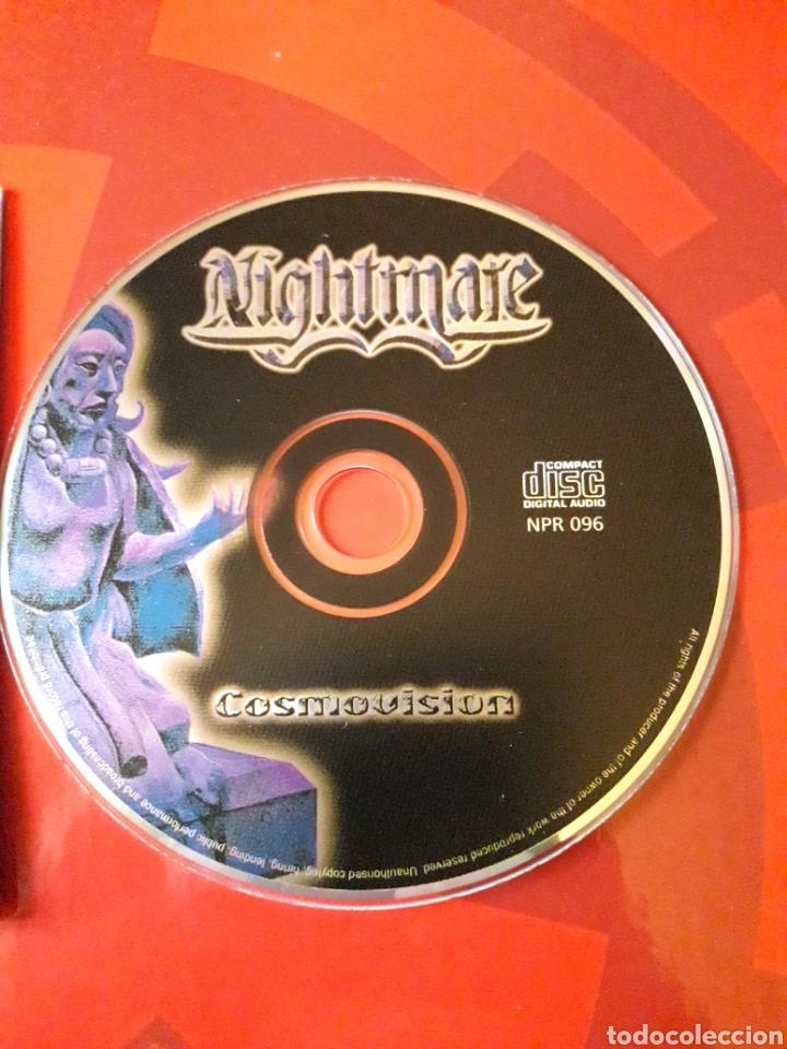 CDs de Música: Nightmare - CD album promocional Cosmovision (Heavy Metal 2001 ) - Foto 3 - 160549144