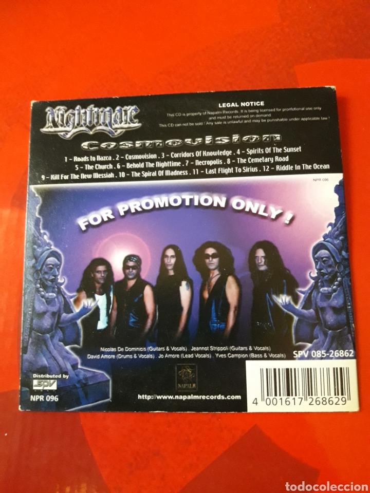 CDs de Música: Nightmare - CD album promocional Cosmovision (Heavy Metal 2001 ) - Foto 4 - 160549144