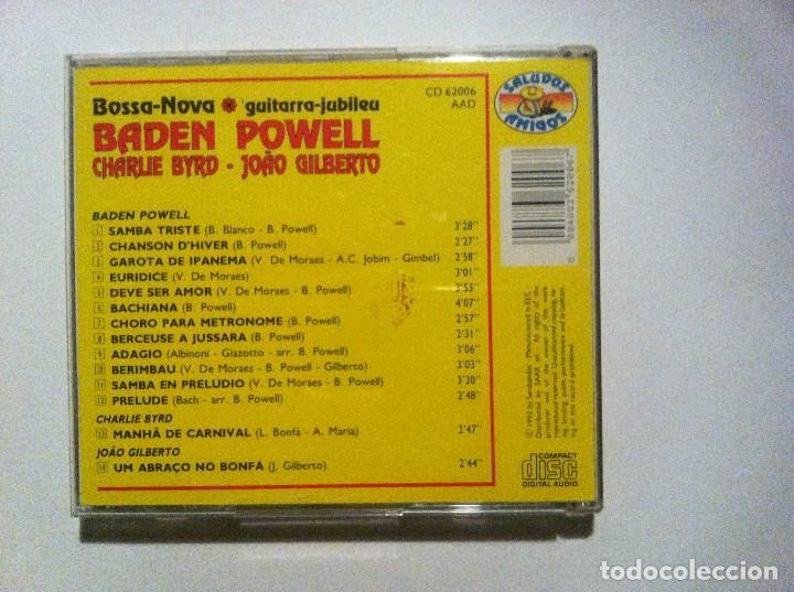 CDs de Música: BADEN POWELL w/ CHARLIE BYRD & GILBERTO - bossa nova - CD ITALIANO 1992 - SALUDOS AMIGOS - Foto 2 - 160560710